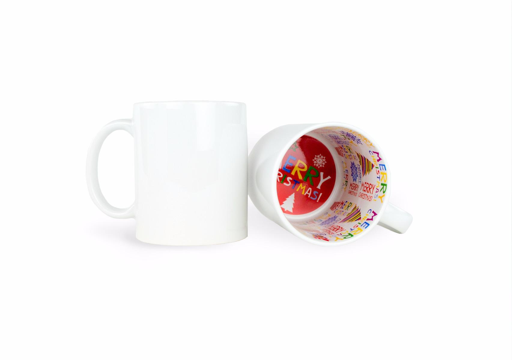White Ceramic Sublimation Coffee Mug - 11oz.