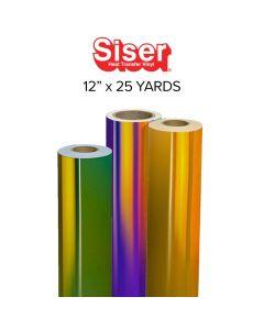"Siser Holographic Heat Transfer Vinyl - 12"" x 25 yards"