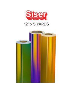 "Siser Holographic Heat Transfer Vinyl - 12"" x 5 yards"