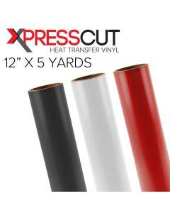 "XPress Cut Heat Transfer Vinyl 12"" x 5 Yards"