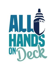 All Hands on Deck, Cruise, Vacation, Beach, SVG Design
