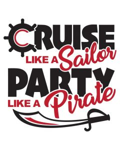 Work Like a Sailor Party Like a Pirate, Vacation, SVG Design