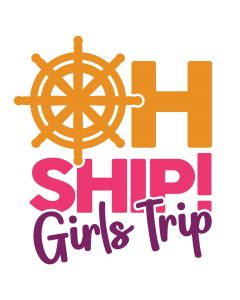 Oh Ship Girls Trip, Cruise, Vacation, Beach, SVG Design