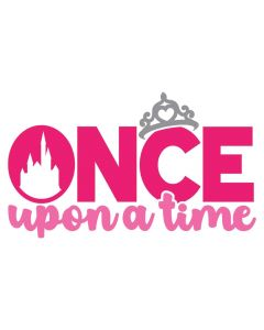 Once Upon a Time, Princess, Tiara, Girl, SVG Design
