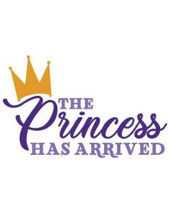 The Princess has Arrived, Crown, Girl, SVG Design