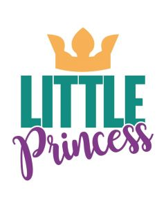 Little Princess, Girl, Crown, Daughter, SVG Design