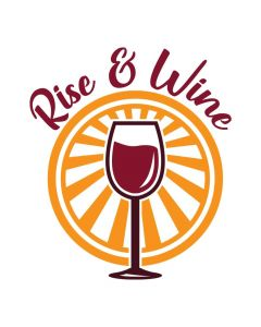 Rise & Wine, Drink, Wine Glass, SVG Design