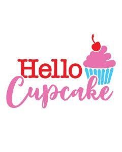 Hello Cupcake, Dessert, Baking, Food, SVG Design