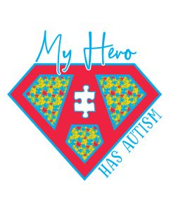 My Hero Has Autism, Puzzle, Super Hero, Awareness
