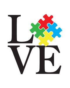 Autism, Love, Puzzle, SVG Design