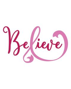 Believe, Pink Ribbon, Cancer Awareness, Women, SVG Design