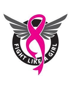 Fight Like a Girl, Cancer Pink Ribbon, SVG Design