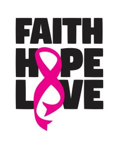 Faith, Hope, Love, Pink Cancer Ribbon, SVG Design