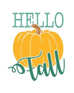 Hello Fall, Autumn, Pumpkin, SVG Design