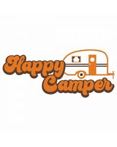 Happy Camper, Travel, Retro, Vacation, SVG Design