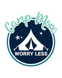 Camp More Worry Less, Tent Camping, Vacation, SVG Design