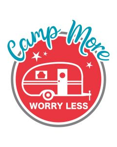 Camp More Worry Less, Retro Camper, Vacation