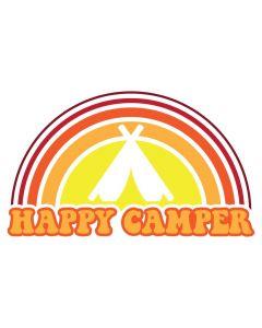 Happy Camper, Sun, Vacation, Tent, SVG Design