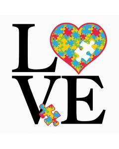 Autism Puzzle, Love, Sublimation