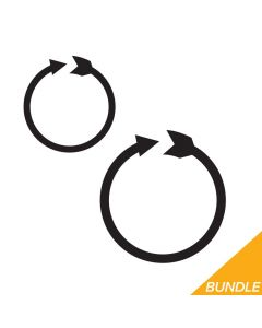 Circle Arrow Monogram Border Bundle, SVG
