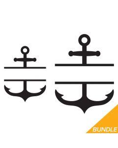 Anchor Border Bundle, Personalized, Nautical, SVG