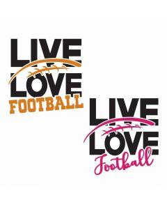 Live Love Football Bundle, Sports, Team Spirit, SVG