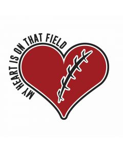 My Heart is On That Field, Football, SVG Design