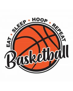 Eat Sleep Hoop Repeat Basketball, Athletic, SVG