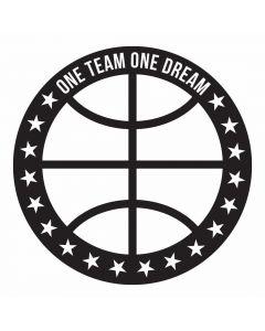 One Team One Dream, Basketball, SVG Design