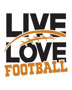 Live Love Football, Sports, School, SVG Design