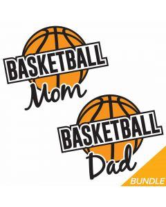 Basketball Mom and Dad Bundle, Sports, Team Spirit, SVG