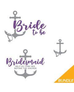 Nautical Bride, Bridesmaid Bundle, SVG