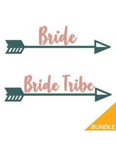 Arrow Bride, Bride Tribe, Bachelorette Bundle, SVG