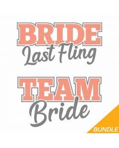 Team Bride, Bride Last Fling, Bachelorette, Wedding SVG