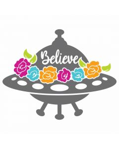 Floral Alien, Outer Space, Roses, SVG, Sublimation