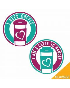 Mother and Daughter Coffee, Latte, SVG