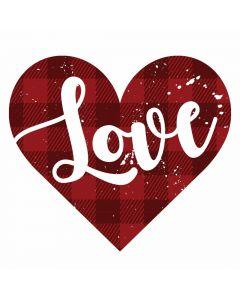 Love Buffalo Plaid Heart, Valentines, Sublimation