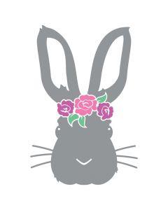 Floral Easter Bunny, Spring, Holiday, SVG