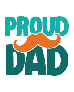 Proud Dad, Mustache, Father's Day, SVG Design
