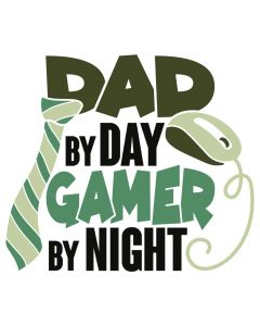 Dad By Day Gamer By Night, Tie, Mouse, SVG Design