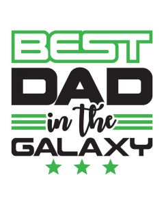 Best Dad in the Galaxy, Space, Stars, SVG