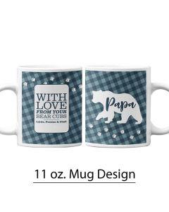 Papa Bear, Father's Day, Buffalo Print, 11 oz Mug Template