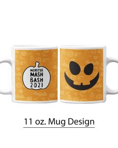 Halloween, Pumpkin, Jack O' Lantern, 11 oz. Mug Template