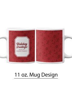Christmas, Holiday, 11 oz. Pre-designed Mug Template