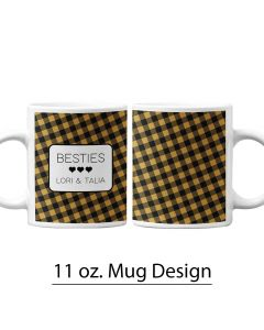 Buffalo Print, Harvest Colors, 11 oz. Mug Template