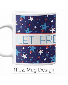 Patriotic Stars, 11 oz. Pre-designed Mug Template