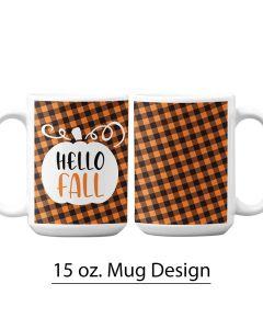 Buffalo Print, Pumpkin Patch, 15 oz. Pre-Design Mug Template