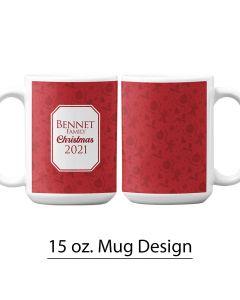 Christmas, Holiday, 15 oz. Pre-Designed Mug Template