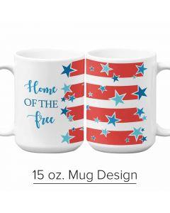 Stars and Stripes,  Pre-Designed 15 oz. Mug Template