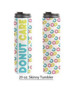 Pink Donut Sprinkles, 20 oz. Skinny Tumbler Design